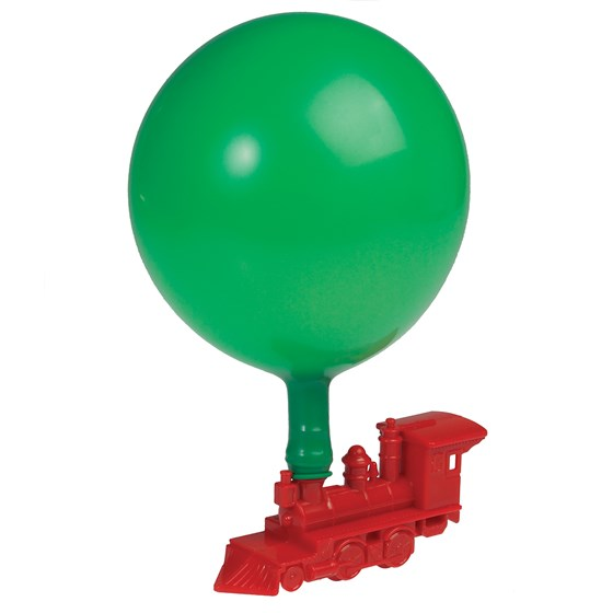 balloon train toy