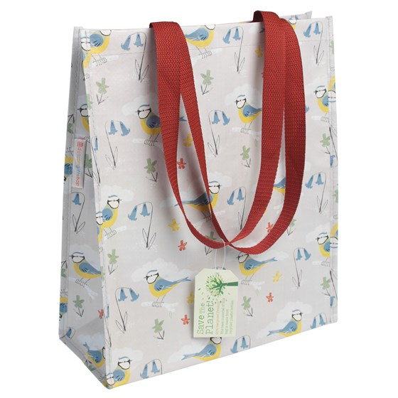blue tits design shopping bag