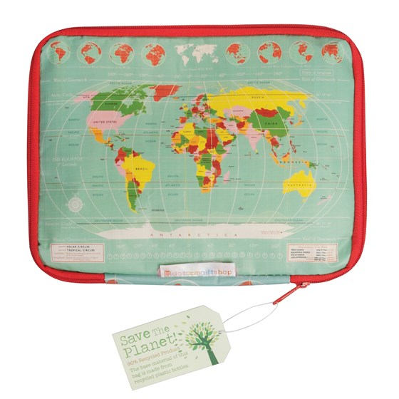 WORLD MAP TABLET CASE