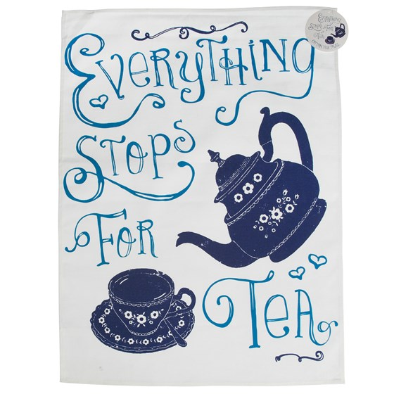 "torchon vaisselle "" everything stops for tea"""