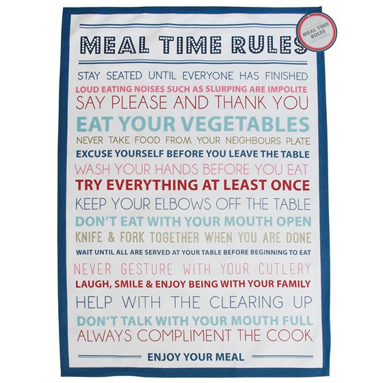 torchon vaisselle meal time rules