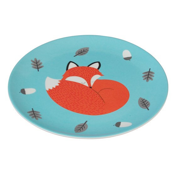 "assiette en mélamine ""rusty the fox"""