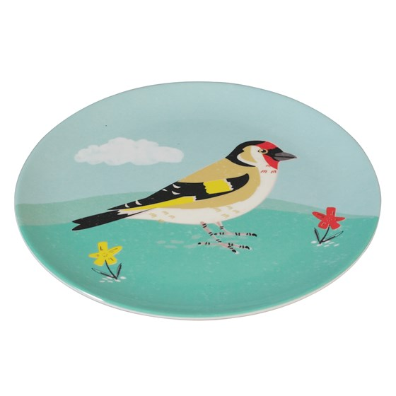GOLDFINCH MELAMINE PLATE