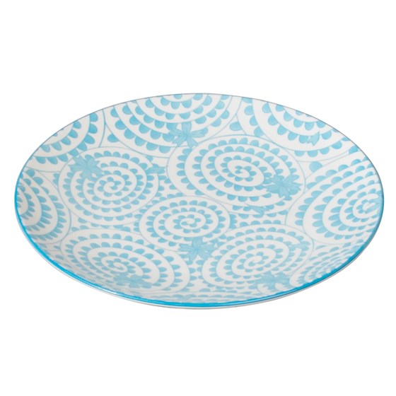 japanese side plate blue swirls