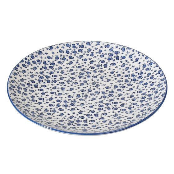 JAPANESE DINNER PLATE BLUE DAISY