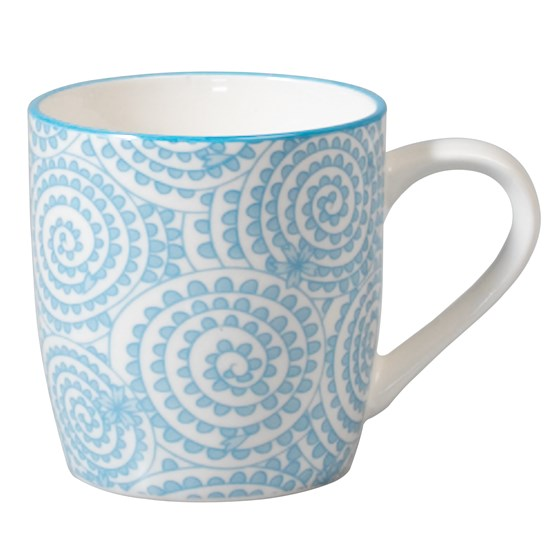 JAPANESE MUG BLUE SWIRLS