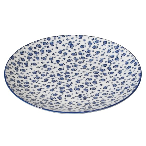 japanese side plate blue daisy