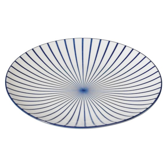japanese side plate cobalt sunburst