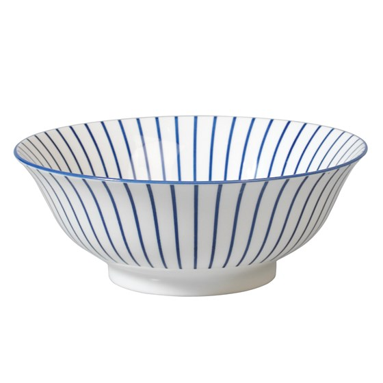 japanese salad bowl cobalt sunburst