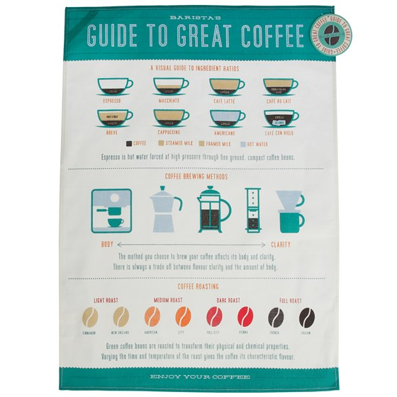 coffee lovers tea towel