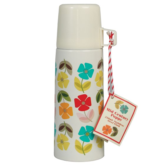 "thermosflasche ""mid century poppy"""