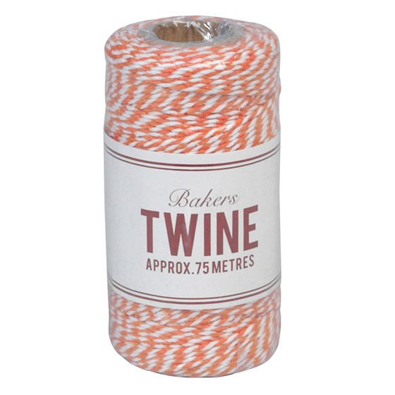 "ficelle ""bakers twine"" orange et blanc"