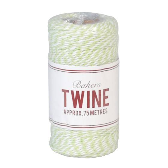 bakers twine green and white