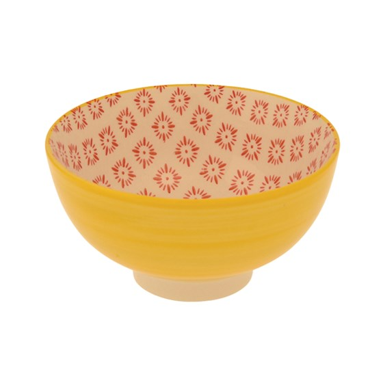 YELLOW CERAMIC FLAMENCO BOWL