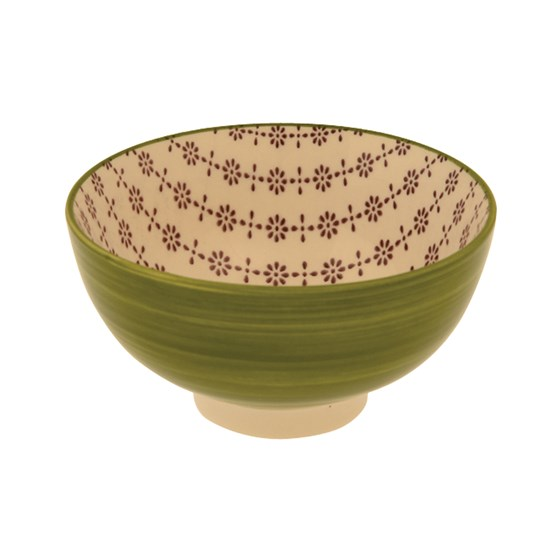 GREEN CERAMIC FLAMENCO BOWL