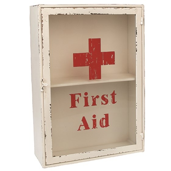 vintage first aid cabinet