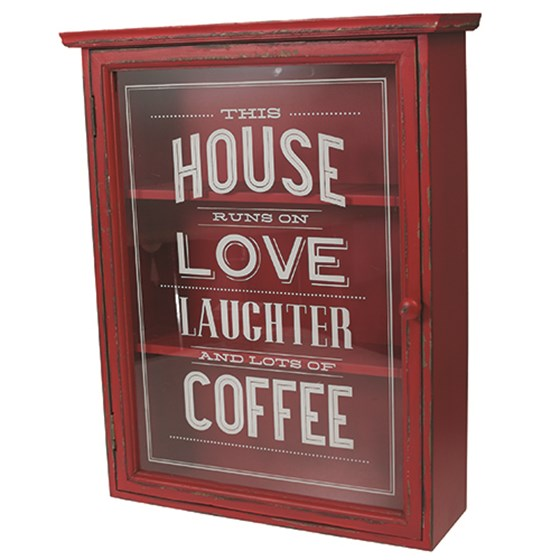 love and laughter wooden cabinet