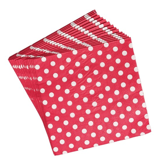 SET 20 RED RETROSPOT PAPER NAPKINS