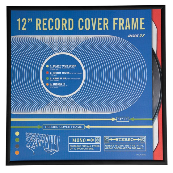 black record cover frame