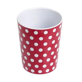 red retrospot melamine cup