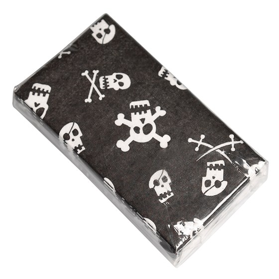 PACK OF 12 SKULL TISSUES