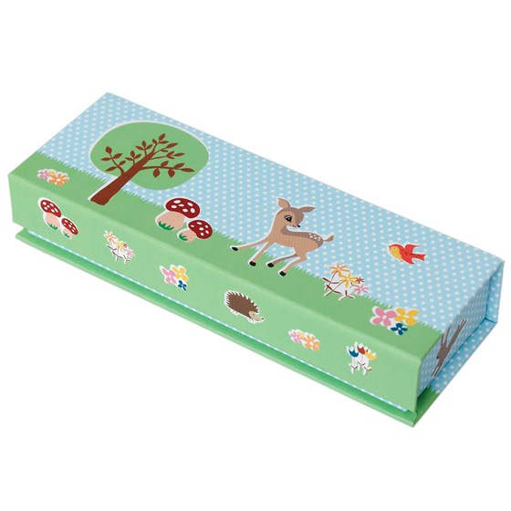 magnetic pencil case woodland