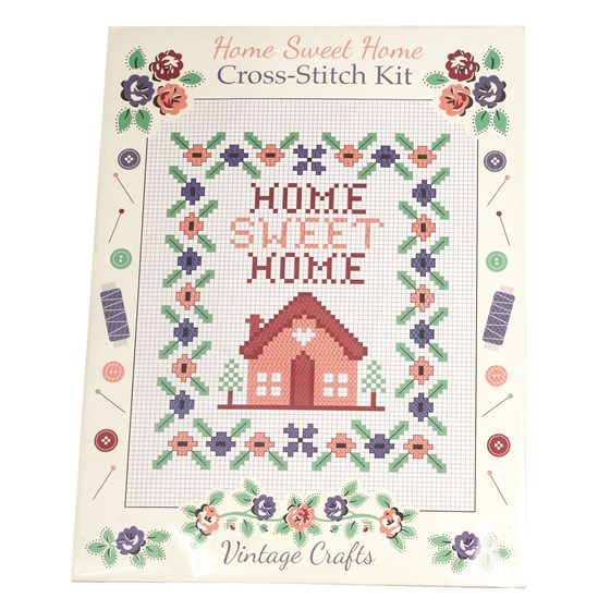 kit broderie point de croix home sweet home