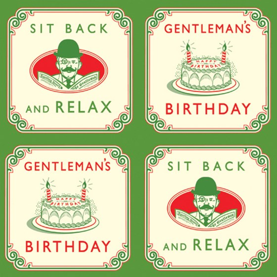 gentleman's birthday wrapping paper