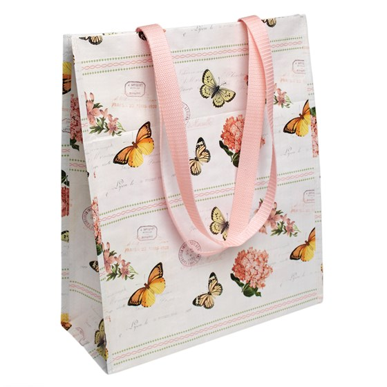 botanical design shopping bag