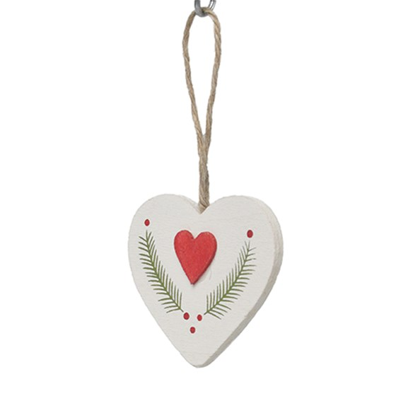laurel heart hanging decoration