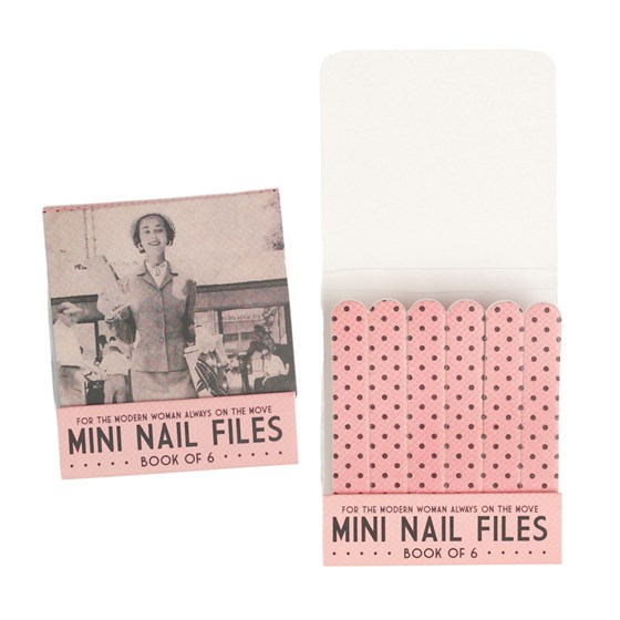 book of 6 modern woman nail files