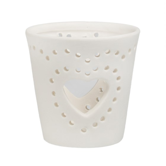 big heart ceramic tealight holder