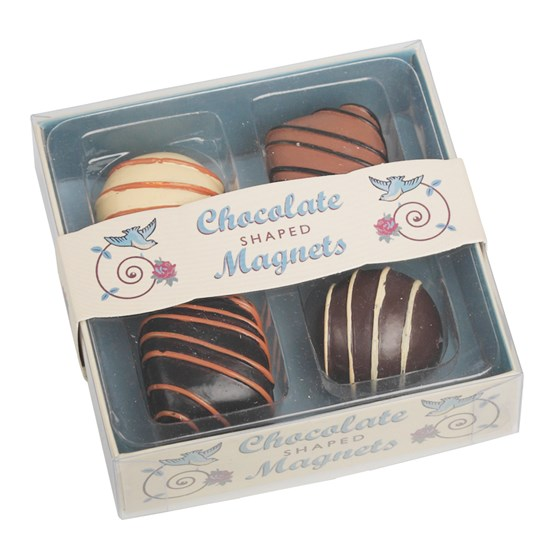SET OF 4 CHOCOLATE FRIDGE MAGNETS