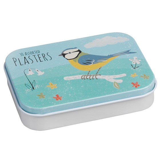 PLASTERS IN TIN BLUE TIT DESIGN