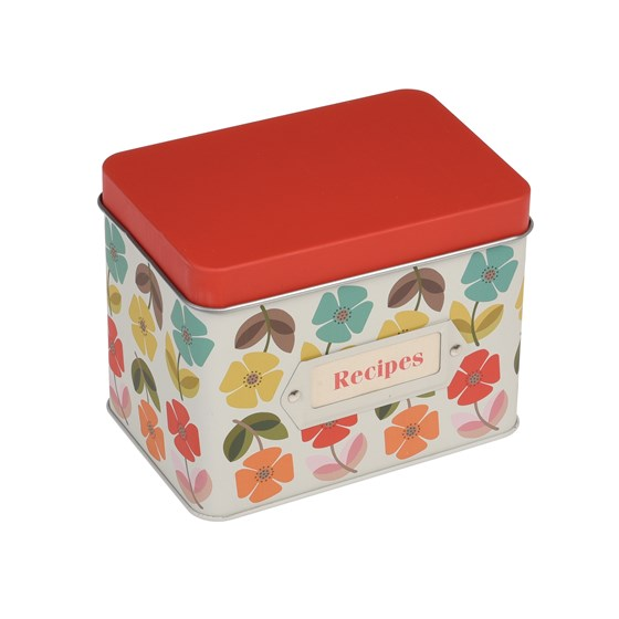 recipe tin mid century poppy