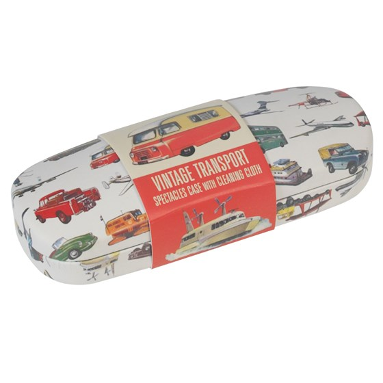 vintage transport glasses case & cleaning cloth