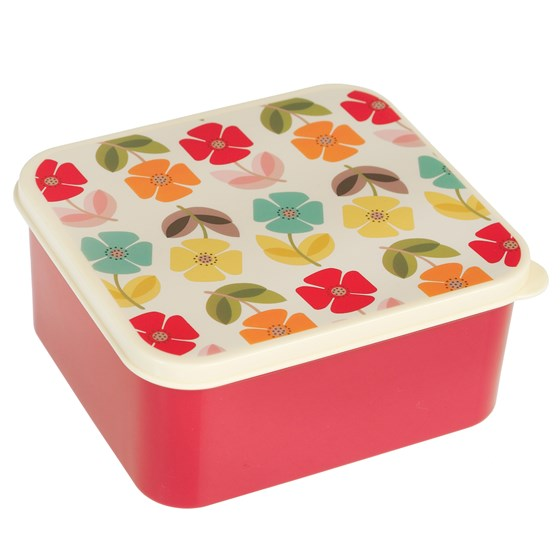 mid century poppy lunch box