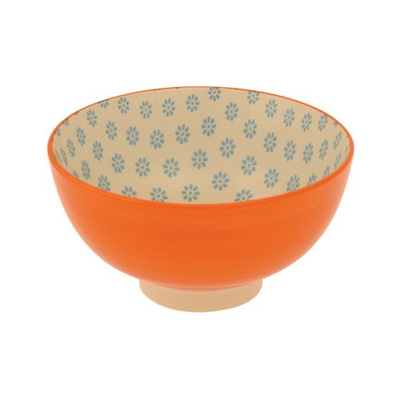 ORANGE CERAMIC FLAMENCO BOWL