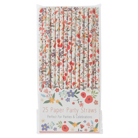 SUMMER MEADOW PAPER STRAWS (PACK OF 25)
