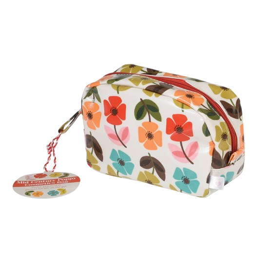 """mid century poppy"" make up etui"