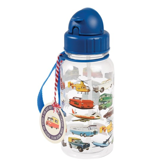 vintage transport kids water bottle