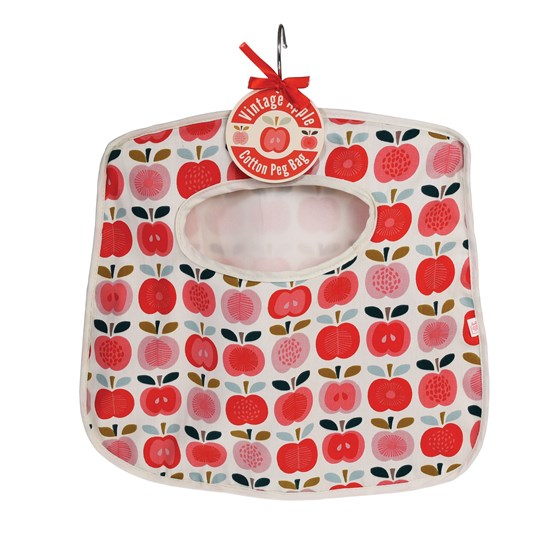vintage apple peg bag