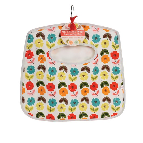 "sac pinces a linge ""mid century poppy"""