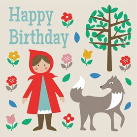 red riding hood birthday card