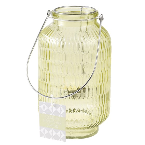 honeycomb tea light holder green