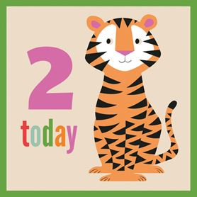 colourful creatures tiger card
