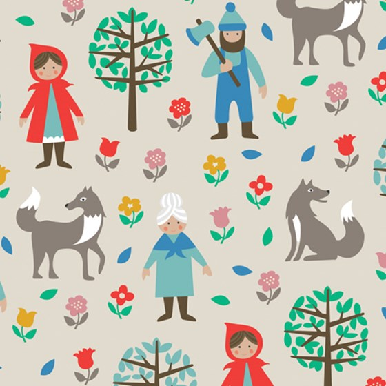 red riding hood wrapping paper
