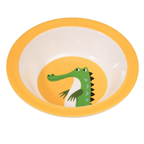 harry the crocodile melamine bowl