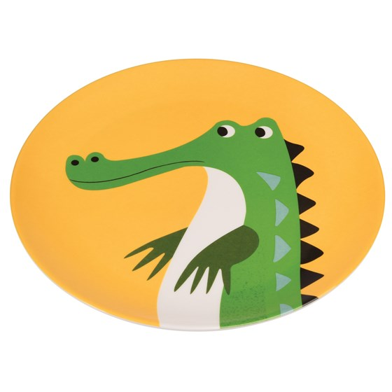 HARRY THE CROCODILE MELAMINE PLATE