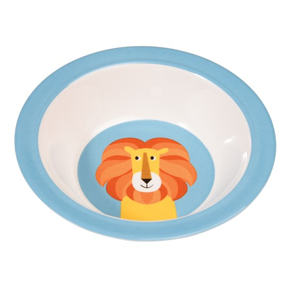 charlie the lion melamine bowl